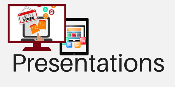 Icon for communications through presentations