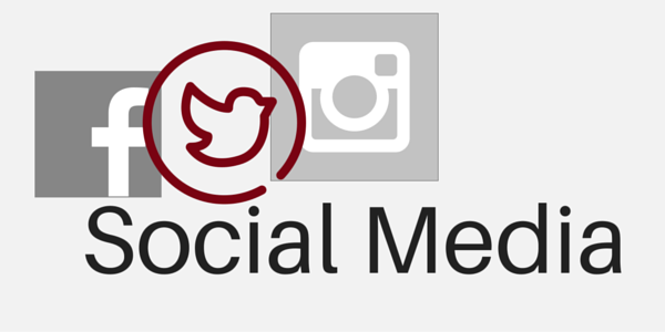 Social media icons for communications